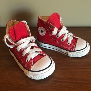 Converse Toddler Red Hi-tops